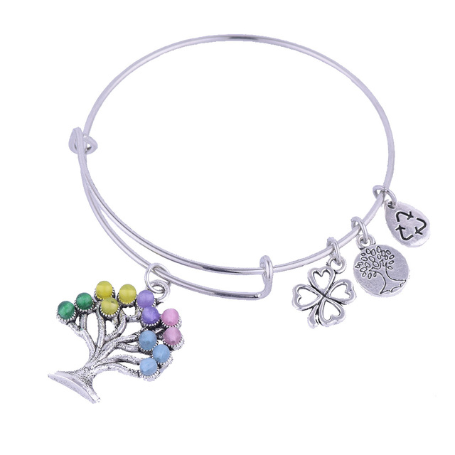 Alte Silber Baum Des Lebens Glas Perlen Charme Erweiterbar ...