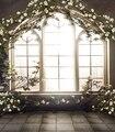 Francés Ventanas Interiores Niños Baby Photo Studio 5x7ft Wedding Decor Antecedentes Vinilo Pintado Computadora Fotografía Telón de Fondo