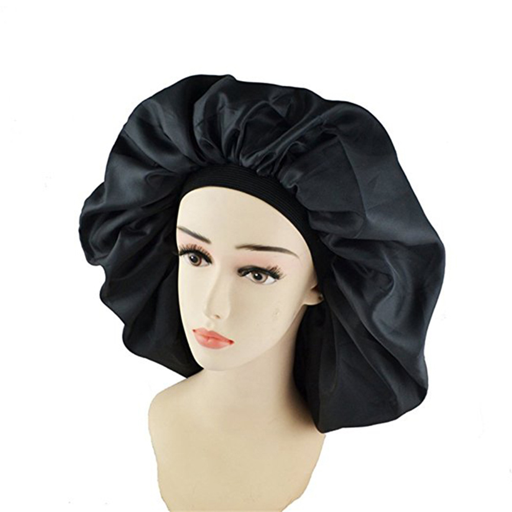 High Quality Super Jumbo Sleep Cap Waterproof Shower Cap Women Hair Treatment Protect Hair From Frizzing headpiece