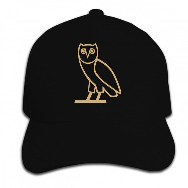 bb0e207ef51 Print Custom Baseball Cap Owl Gold Print Short Blusa Masculina Hip Hop Black  Tumblr Hat Peaked