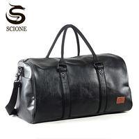 Mode Männer Reisetaschen Hand Gepäck Wasserdichte Reise Duffel Taschen Große Kapazität Tasche Wochenende Taschen High-kapazität Leder Handtasche