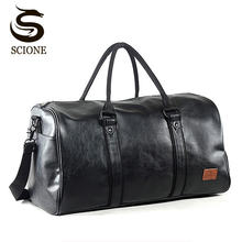 Fashion Men Travel Bags Hand Luggage Waterproof Duffel Large Capacity Bag Weekend High-capacity Leather Handbag