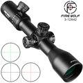 Fire Wolf 3-12X42 SF optique lunette de chasse avec rouge/vert Mil Dot rouge vert noir éclairage réticule Airsoft portée