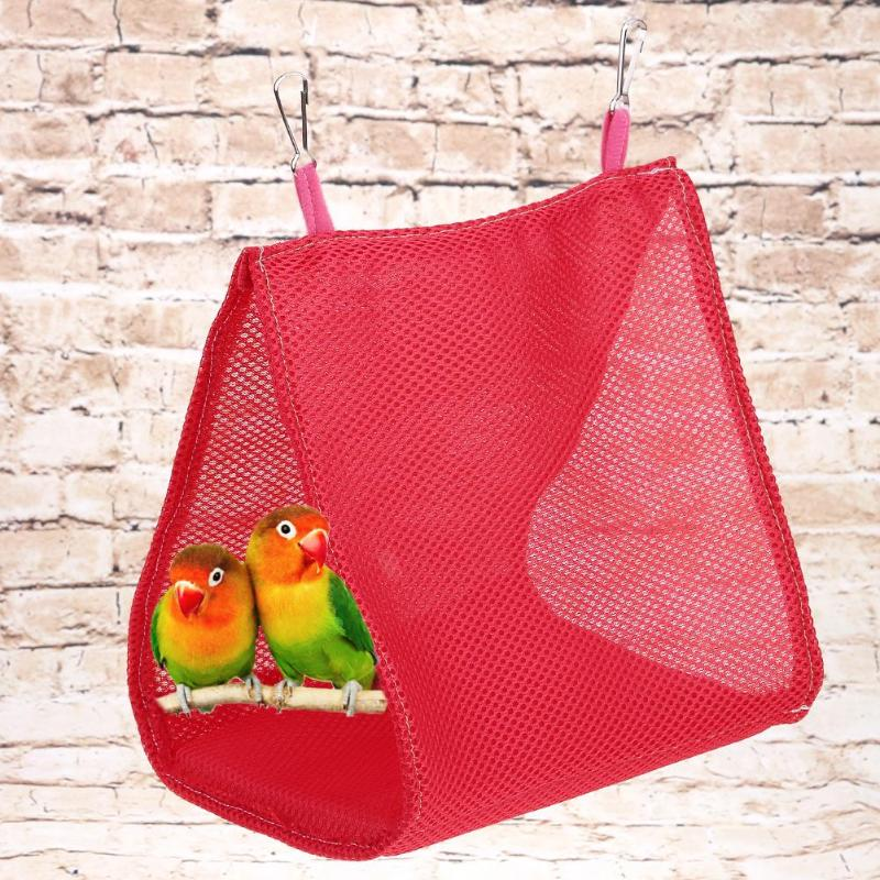 Pet Parrot Hanging Cage Hut Tent For Triangle Mesh Bird Hammock Nest Bed House Toy #325 Pet Products Bird Cages & Nests