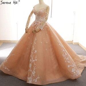 Image 3 - ארוך שרוול סקסי פשוט בציר חתונת שמלת 2020 אפליקציות כבוי כתף אופנה תחרה עד הכלה שמלה 66596
