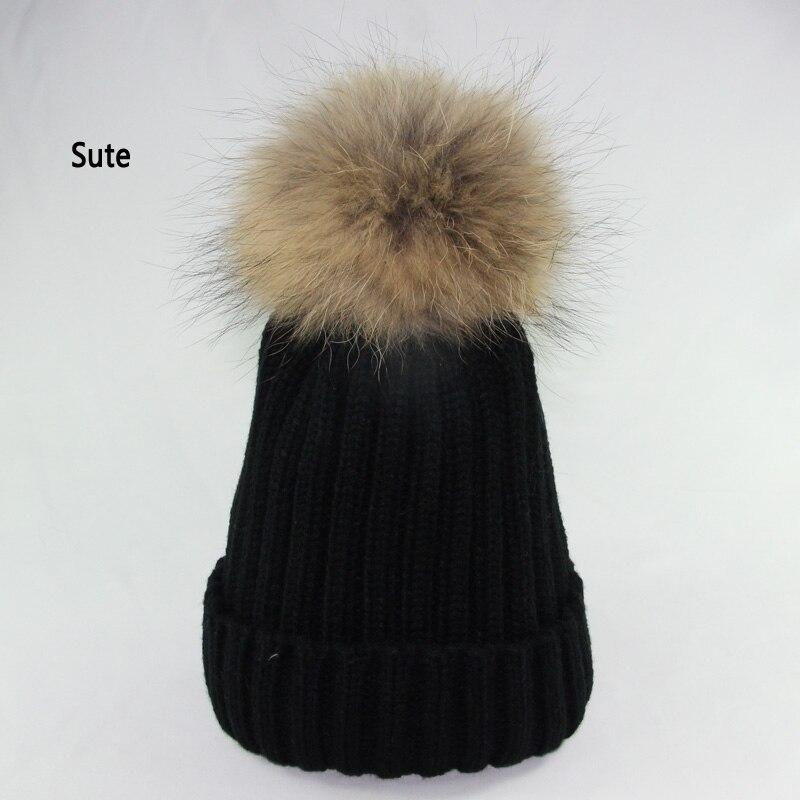 Vison et fourrure de renard casquette poms chapeau d hiver pour ... e34de84c25b