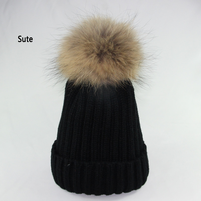 mink and fox fur ball cap poms winter hat for women girl 's wool hat knitted cotton beanies cap brand new thick female cap M-155 fetsbuy mink fur ball cap gray pom poms winter hat for women girl s wool hat knitted cotton beanies cap brand thick female cap