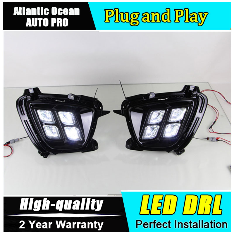 JGRT car styling For sorento LED DRL For sorento led fog lamps daytime running light High brightness guide LED DRL Four eye mode gps модуль для dvr 630
