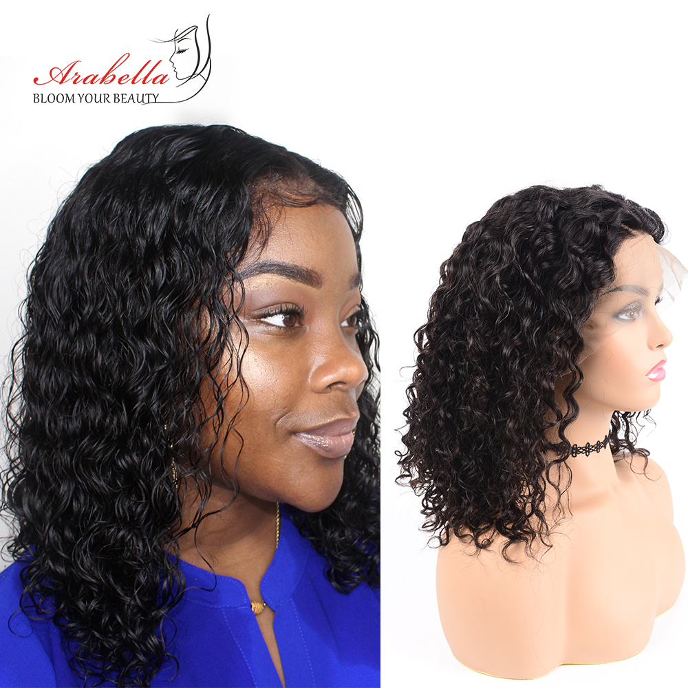 Brazilian 13x6 Water Wave Lace Front Human Hair Wigs 180% Density Pre Plucked Arabella Lace Front Wig 100% Remy Human Hair Wigs