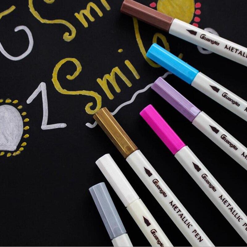 15 20colors Metallic Marker Pen Art Marker Soft Brush Pen