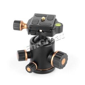 Image 5 - بيرجير TH3 برو كرة ثلاثية الرأس 8 كجم قدرة التحميل 360 درجة الدورية بانورامية ل Monopod DSLR كاميرا بناء المعادن جودة