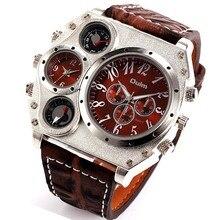 Mens relojes oulm militar nuevos hombres de cuarzo reloj de pulsera de primeras marcas de lujo famoso tag hombres reloj militar relogio masculino