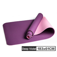 Ship From Ru No slip Yoga Mat 6mm TPE Sport Mats for Fitness Pilates Gymnastics 6mm Pad ALS88 ship from RU