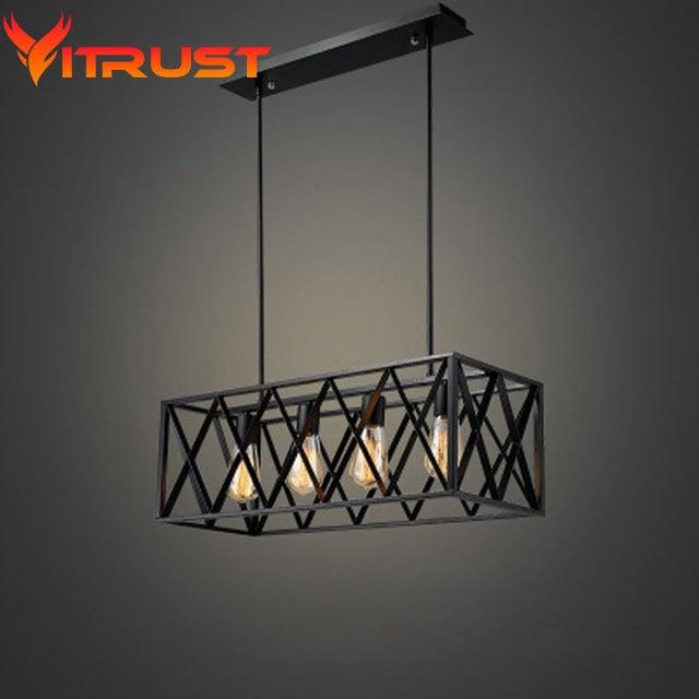 Metal industrial lámpara colgante araña de hierro forjado ...