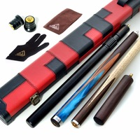 CUESOUL 57 Hand Spliced 3/4 Jointed Snooker Cue with 2 Extensions Packed in Leatherette Cue Case