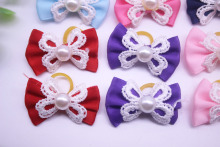 Pet dog  lace hair bows
