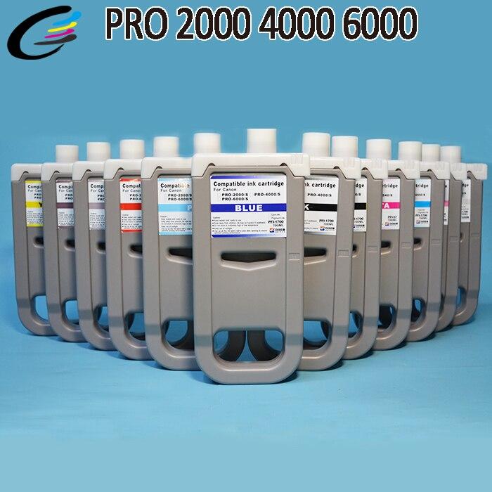 PFI 1700 пигментные чернила бак с чипом для Canon PRO 2000 4000 6000 струйный принтер