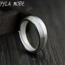 999 Silver Sterling Jewelry Simple Unisex Ring Women And Man Fashion