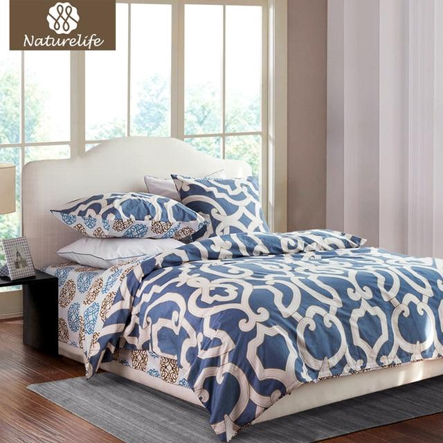 2015 новинка принт с цветами 100%Хлопок теплый 4штук Комплект постельные принадлежности качественное постельное белье королева покрывало одеяло простынь на кровать в корейском силе