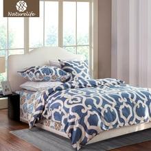 Naturelife 100% Cotton Duvet Cover Set Flowers Printed Bedding Set Bedsheet Pillowcase Duvet Cover Bed Quilt Bedlinen Bedclothes