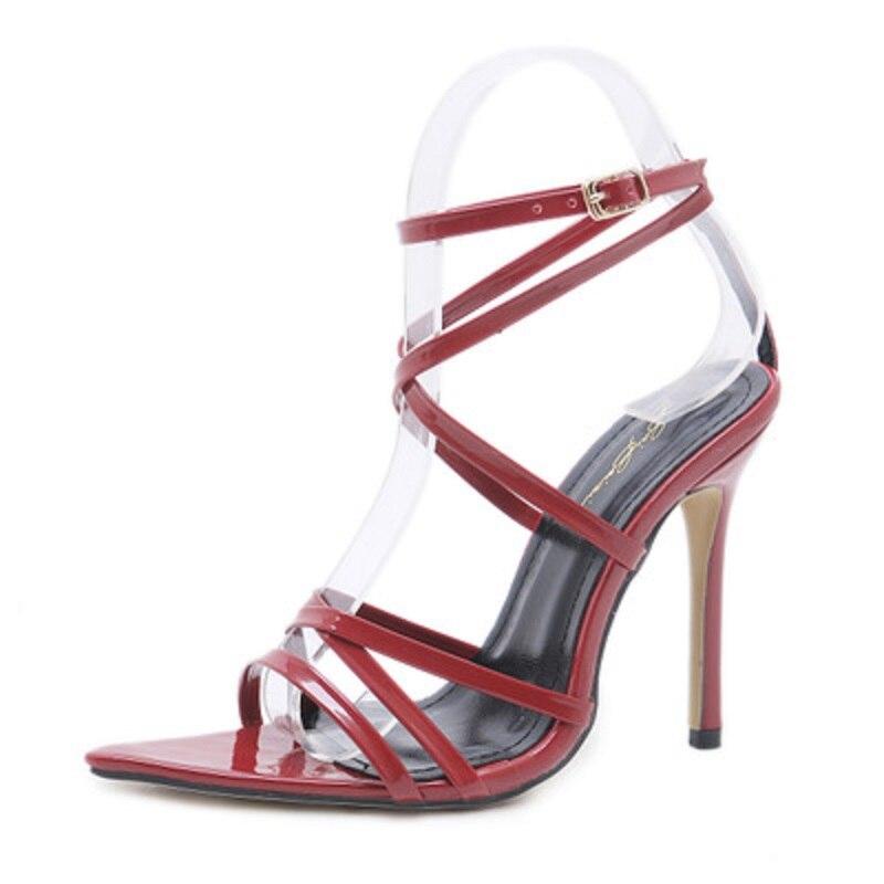 Las caqui Fenlunna De Negro Señaló Mujeres Bombas Tacones atado Damas Ocio Cómodo Delgados Moda Pu Punta Zapatos Mujer rojo La qwEAHFw
