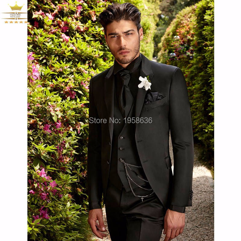 Assez Costume Homme Mariage Custom Made conception 2016 Costume noir  TN86