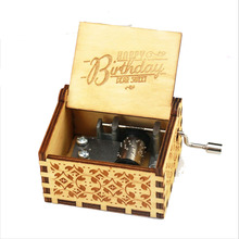 купить Nice Wooden Hand Crank Harri Potter Music Box Theme Wooden Music Box Birthday Gift for Friend недорого