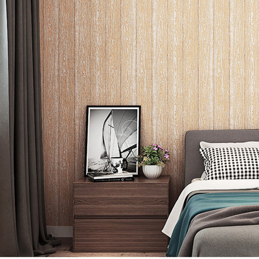 3d Non woven Wallpaper Simple Vertical Strip Pure Pigment Color Living Room Bedroom Hotel Engineering Background Wall Wallpaper in Wallpapers from Home Improvement