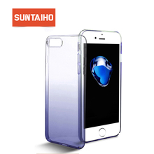 Suntaiho Phone Case For iPhone 7 Plus Hard Ultra thin Color Gradient Phone Case Cover For iPhone 6 6S Plus Protective Shell Case