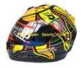 Valentino Rossi Motocicleta de la cara Llena Casco Capacete Moto de Carreras De Karts