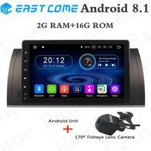 цена на 1024*600 Android 8.1 Quad 4Core Car DVD Player For BMW 5 Series X5 E53 E39 E39 M5 GPS Navigation Radio Stereo BT WIFI