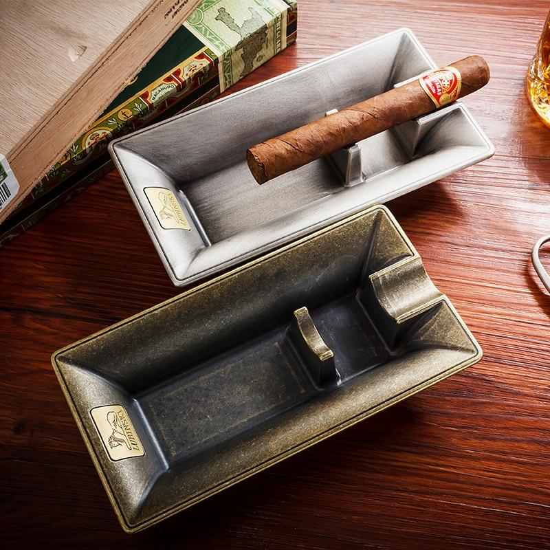 US $26 99 10% OFF|LUBINSKI Creative Design Metal Cigar Ashtray Luxury Cigar  Accessories Cigar Holder-in Ashtrays from Home & Garden on Aliexpress com