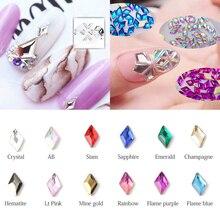 30/100 шт ромбовидные Стразы для ногтей, кристаллы, стеклянные камни для дизайна ногтей, декоративные подвески, драгоценные камни, ювелирные изделия, аксессуары