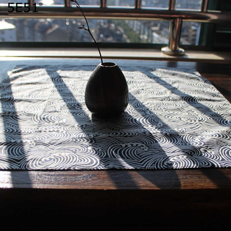 Estilo japonês furoshiki lenço do poliéster 100%/concise estilo one side impresso/Muitos Usos