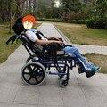 Deficiência cadeira de rodas cadeira de rodas dobrável deitado divisão das crianças com paralisia Cerebral deficientes de cadeira de rodas para a paralisia Cerebral