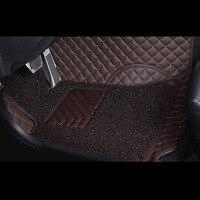2018 Новое поступление 2 слоя пыли автомобильные коврики Пользовательские для ford focus, 5 мест слайд легко чистить искусственная кожа автомобиль