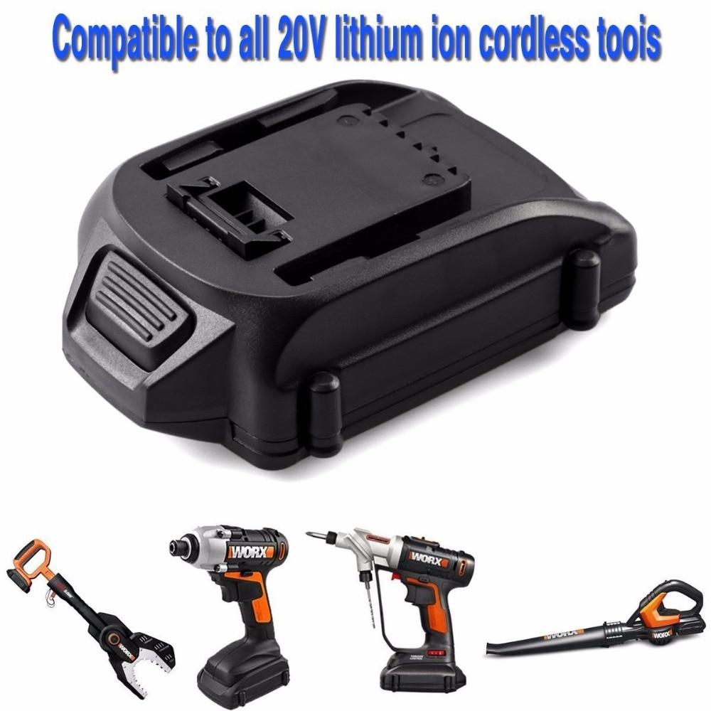 3500 mah Batterie de remplacement pour 20 v Worx WA3525 Li-ion Batterie Pour WG20V