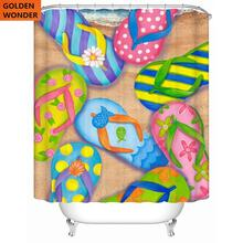 Fashion Creative Shower Curtain Waterproof Thickened Bathroom Toilet Bath Curtains Products Free Shipping Home Decor