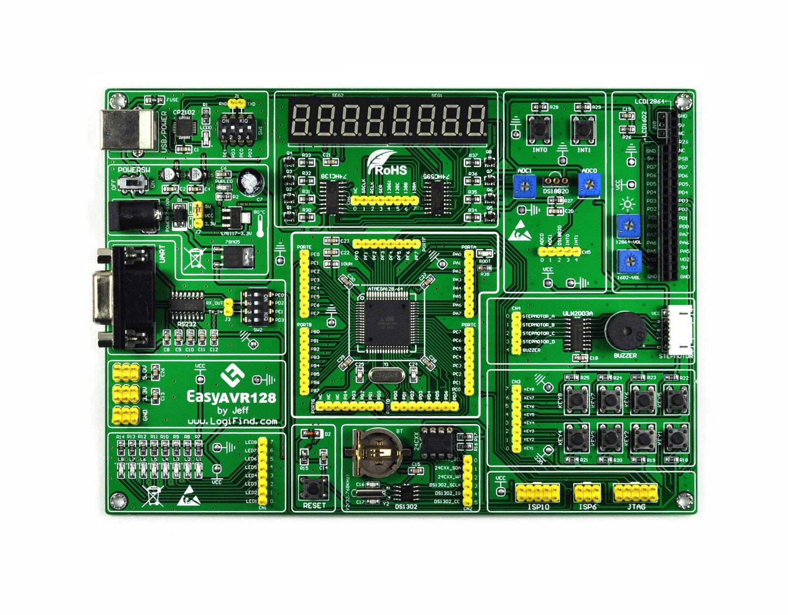 AVR microcontrôleur conseil de développement de l'apprentissage easyAVR128 mega128A conseil de développement