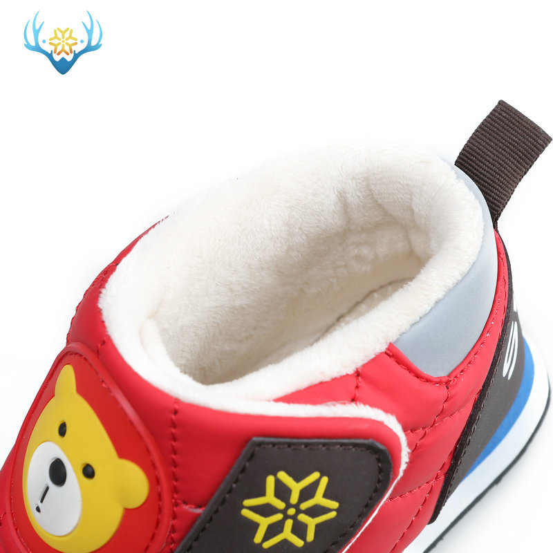 2019 New Boys Warm Shoes Girls snow boots Kids Children Winter boot waterproof thick insole non-slip protect feet free shipping