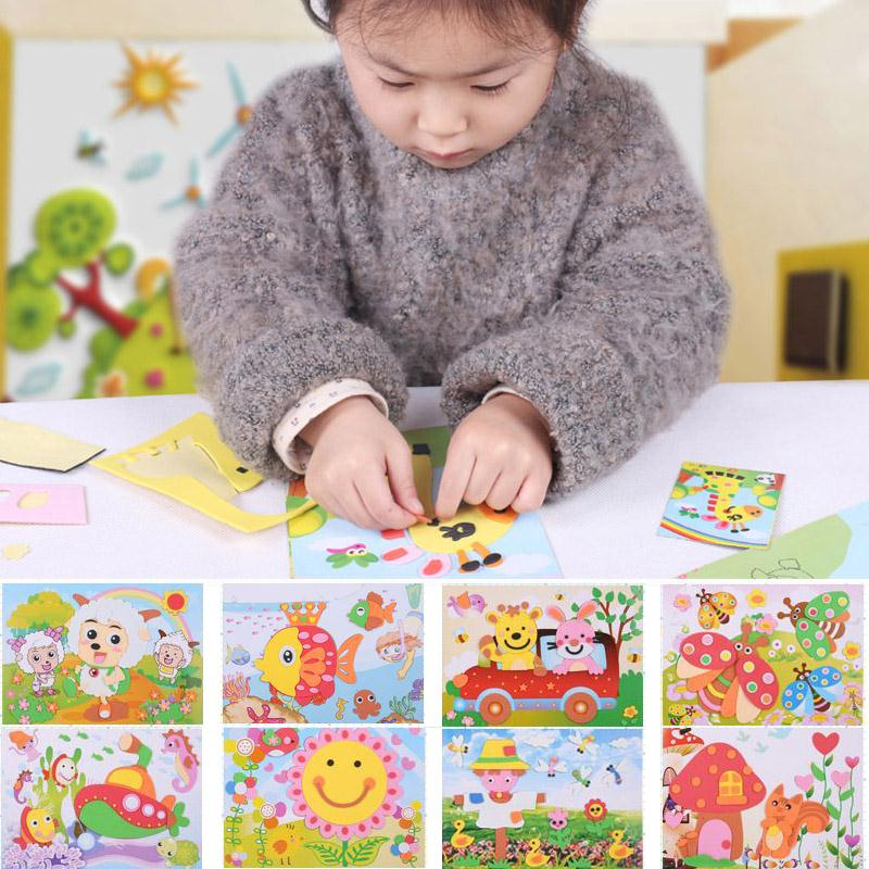 1set DIY 3D Sticker Drawing Kids Crafts Children Gift DIY Children Toy