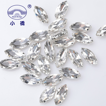10PCS Glitter Crystal Sew On Rhinestone Diy Non HotFix Rhinestones With Claw Horse Eye Flatback For Clothing S057