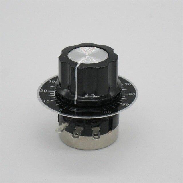 2 pièces RV24YN20S B102 1 k ohm film de Carbone potentiomètre à tour unique potentiomètre + 2 pièces A03 bouton + 2 pièces cadrans