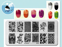 Daisy Rose Design Image DIY Manicure Nail Art Stamp Template Image Plate Rctangular Stamping PLates Set Beauty Polish Tools