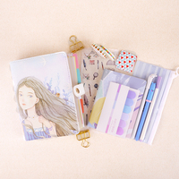 Girly Notebook Stationery Suit Clips Pens Daily Plan Agenda Sticky Notes Great Value Planner Organizer Set Cute Journals Series