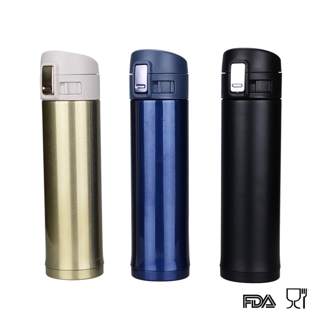 8f919bb52c Fashion stainless steel sport thermos Vacuum Thermo flask mug mini hot cold  water bottle falsk drinkware 500ML