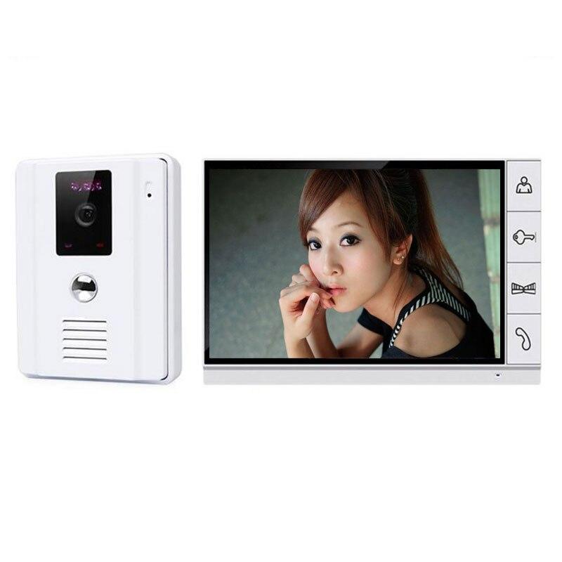 bilder für Heimgebrauch 9 zoll TFT Monit Wired Video Türsprechanlage System Breite 700tvl Nachtsicht Im Freien Winkel Kamera für Wohnung sicherheit
