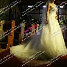 srui sker Elegant A-Line Strapless Wedding Dress