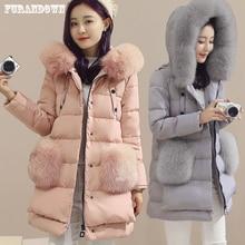 2016 High Quality Winter Long Down Jacket Women Real Fox Fur Hooded Coat Duck Down Parkas Jackets Plus Size 5XL