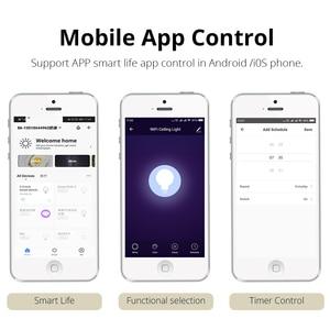 Image 4 - 스마트 통 led alexa google assistant 음성 제어 dimmable recessed downlight wifi app 제어